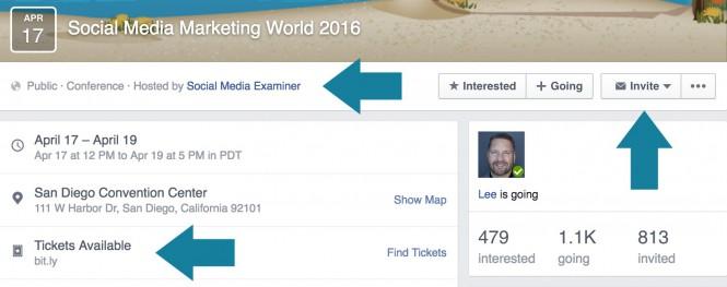 facebook etkinlik pazarlama - etkinlik sayfası